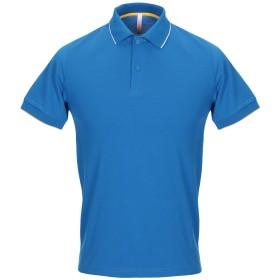 《期間限定 セール開催中》SUN 68 メンズ ポロシャツ ブライトブルー S コットン 95% / ポリウレタン 5%