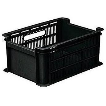 和泉化成 収納コンテナ 3636BK フリーコンテナLサイズ ブラック