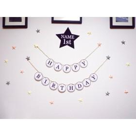 お誕生日ガーランド と星プレート