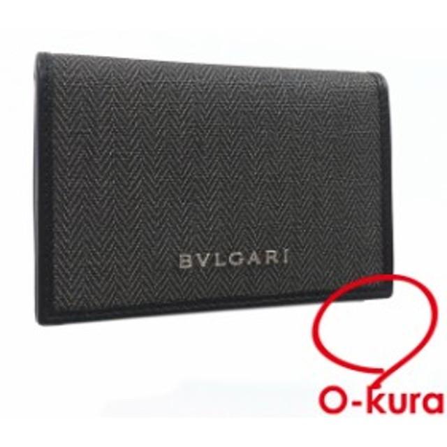 ddc2b46888ca 中古 ブルガリ カードケース ウィークエンド グレー PVC レザー 32588 BVLGARI 2つ折り 二つ折り カード入れ