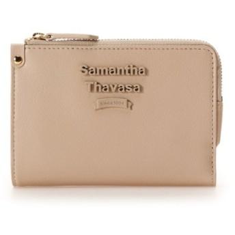 サマンサタバサ スナップ付き薄マチ折財布 レディース ベージュ FREE 【Samantha Thavasa】