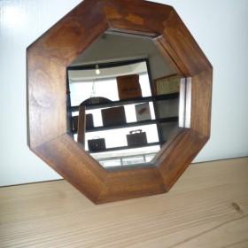 クスノキの八角鏡(ブラウン・32cm)