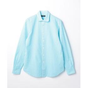 【30%OFF】 トゥモローランド コットンサッカー ラウンドシャツ メンズ 54サックスブルー系 XS 【TOMORROWLAND】 【セール開催中】