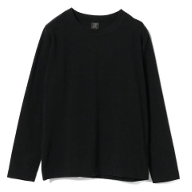 <MEN>homspun / 天竺 ロングスリーブTシャツ メンズ Tシャツ BLACK XL