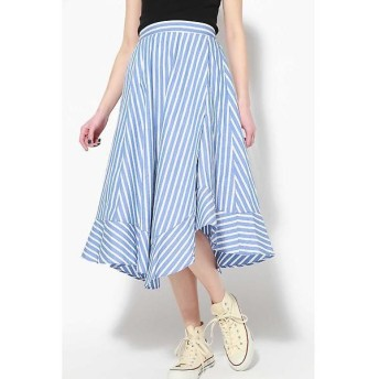 ROSE BUD / ローズ バッド カラーストライプイレヘムスカート