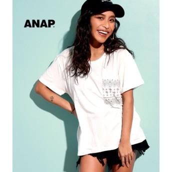 【セール開催中】ANAP(アナップ)ペイズリー柄ポケットTシャツ