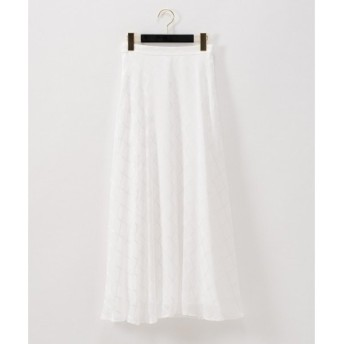 GRACE CONTINENTAL / グレースコンチネンタル チェックジャガードフレアスカート