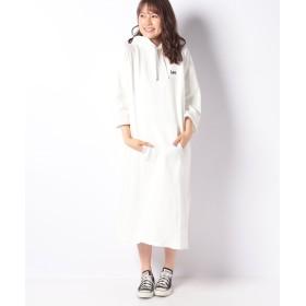 リー ロングパーカー ドレス レディース ホワイト S 【LEE】