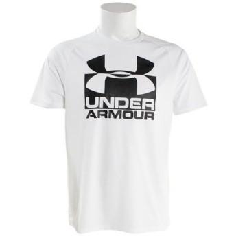 アンダーアーマー(UNDER ARMOUR) 【オンライン特価】 テックスプリット 半袖Tシャツ #1348558 WHT/BLK AT (Men's)