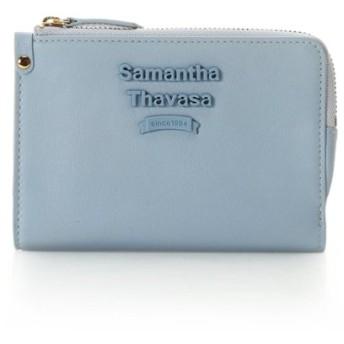 サマンサタバサ スナップ付き薄マチ折財布 レディース ライトブルー FREE 【Samantha Thavasa】