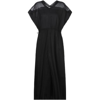《セール開催中》MAURO GRIFONI レディース 7分丈ワンピース・ドレス ブラック 38 コットン 100%
