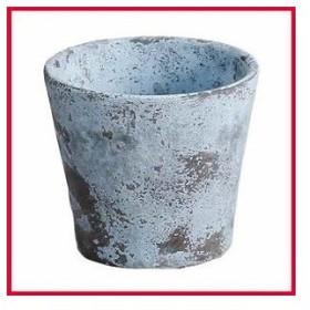 アビテ JC-006-BL 植木鉢 アンティーク調 ミュル・ポット L ブルー