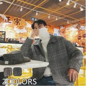 メンズジャケット ゆったり アウター メンズコート チェック柄 ショット丈 厚手 秋冬 防寒 カジュアル アウトドア ジャケット メンズ