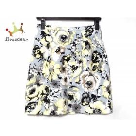フレイアイディー スカート サイズ0 XS レディース 美品 ライトブルー×ライトグレー×マルチ   スペシャル特価 20190513