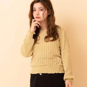 ニット・セーター - RETRO GIRL ○RETRO GIRL○ スカシリブフリルNT
