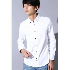 トルネードマート BLUE TORNADO∴オックス裾パイピングBDシャツ メンズ レッド LL 【TORNADO MART】