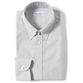 GUY ROVER / オックスフォード ストライプ タブカラーシャツ メンズ ドレスシャツ BLACK/4 40