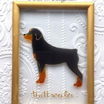 DOG. AM ガラスフレーム ロットワイラー