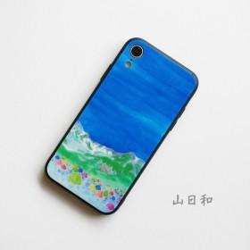 【NEW!山日和】背面ガラス型スマホケース ● iPhone/Android ●