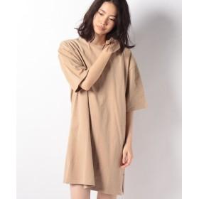 【30%OFF】 ブージュルード ◆サイズで変わる着丈2種類◆綿100%Tシャツワンピース レディース ベージュ L 【Bou Jeloud】 【セール開催中】