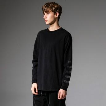 Tシャツ - SHIFFON NUMBER (N)INE DENIM(ナンバーナインデニム) スリーブロゴビッグTシャツ(ホワイト/ブラック)