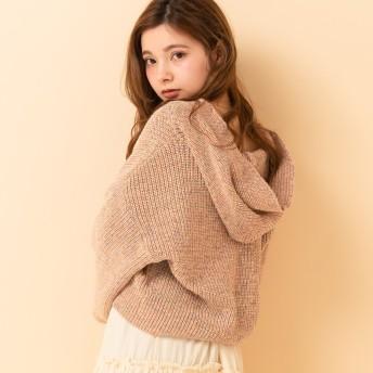 ニット・セーター - RETRO GIRL ○RETRO GIRL○ カラフルニットフーディー