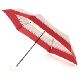 w.p.c / ボーダーミニ折りたたみ傘 レディース 折りたたみ傘 RED ONE SIZE