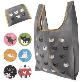 エコバッグ おしゃれ 折りたたみ 通販 折り畳み ナイロン ショッピングバッグ レディース 手提げバッグ たて型 携帯バッグ 猫グッズ ネコ 雑貨 携帯