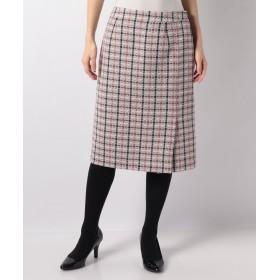 LAPINE BLANCHE ラピーヌ ブランシュ チェックツイード タイトスカート