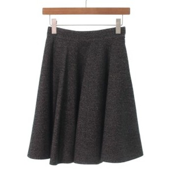 M-PREMIER COUTURE / エムプルミエクチュール レディース スカート 色:黒xベージュ系 サイズ:36(S位)