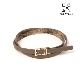(LAKOLE/ラコレ)【マルチウェイ】リバーシブルベルト/ [.st](ドットエスティ)公式