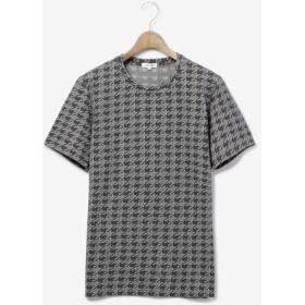 【PLST】ハウンドトゥースジャカード半袖Tシャツ Men