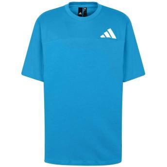 《期間限定セール開催中!》ADIDAS メンズ T シャツ アジュールブルー S コットン 100% The Pack Tee
