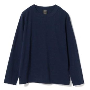<MEN>homspun / 天竺 ロングスリーブTシャツ メンズ Tシャツ NAVY XL