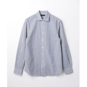 【30%OFF】 トゥモローランド コットンサッカー ラウンドシャツ メンズ 68ネイビー系 S 【TOMORROWLAND】 【セール開催中】