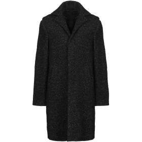 《期間限定 セール開催中》BRIAN DALES メンズ コート ブラック 46 ウール 66% / ナイロン 20% / 毛(アルパカ) 7% / ウール 7%