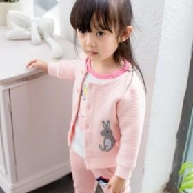子供用 カーディガン 刺繍 長袖