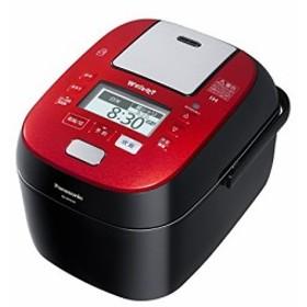 パナソニック 5.5合 炊飯器 圧力IH式 Wおどり炊き ルージュブラック SR-SPX(中古品)