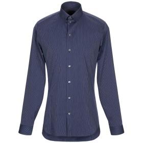 《期間限定セール開催中!》PATRIZIA PEPE メンズ シャツ ダークブルー 46 コットン 75% / ナイロン 22% / ポリウレタン 3%