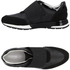 《期間限定 セール開催中》GEOX レディース スニーカー&テニスシューズ(ローカット) ブラック 35 革 / 紡績繊維