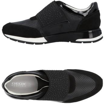 《9/20まで! 限定セール開催中》GEOX レディース スニーカー&テニスシューズ(ローカット) ブラック 35 革 / 紡績繊維