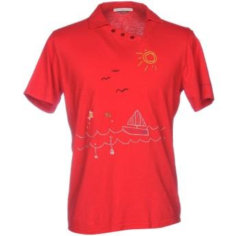 《9/20まで! 限定セール開催中》DANIELE ALESSANDRINI メンズ ポロシャツ レッド M コットン 100%