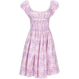 《セール開催中》BLUMARINE レディース ミニワンピース&ドレス パープル S コットン 100%