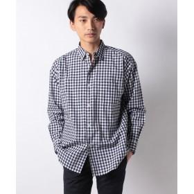 【50%OFF】 コエ 40ブロ ドビッグシルエットシャツ メンズ チェックネイビー L 【koe】 【セール開催中】