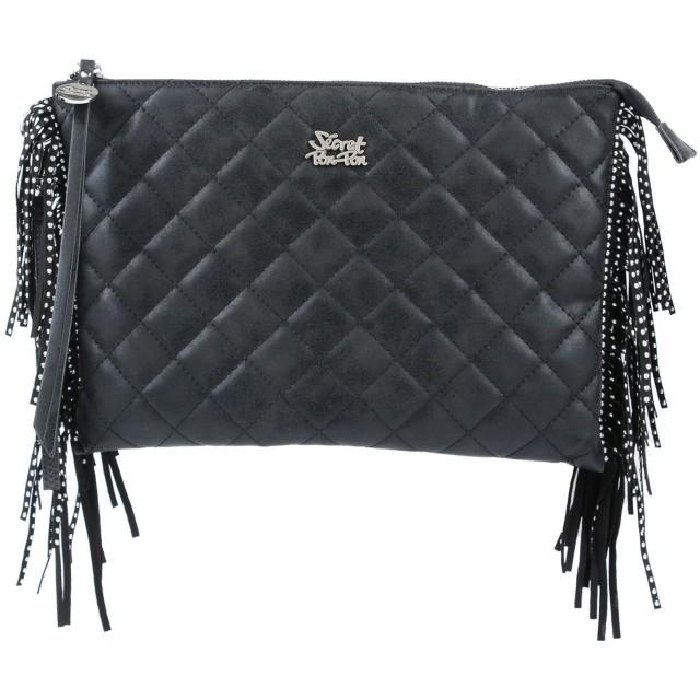 《セール開催中》SECRET PON-PON レディース ハンドバッグ ブラック 紡績繊維