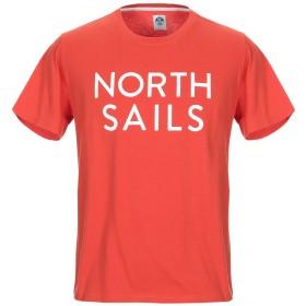 《セール開催中》NORTH SAILS メンズ T シャツ オレンジ M コットン 100%