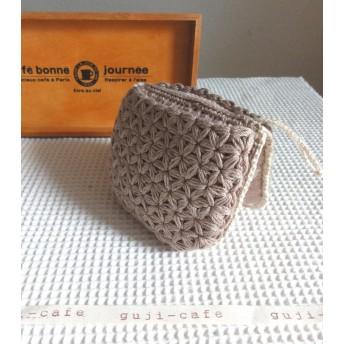 ふんわり リフ編み ミトン鍋つかみ(アヒル)