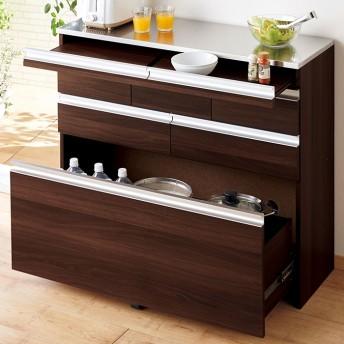 スライドテーブル付ステンレス薄型カウンター 幅60cm
