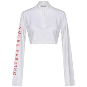 《期間限定セール開催中!》ORLEBAR BROWN レディース T シャツ ホワイト L ナイロン 72% / ポリウレタン 28%
