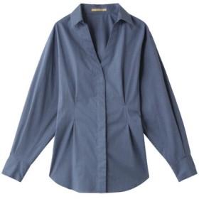 SALE 【50%OFF】 Curensology カレンソロジー メランジタイプライターシャツ サックス